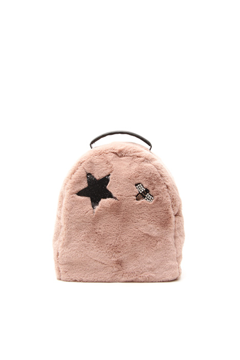 Fur-effect backpack Diffusione Tessile