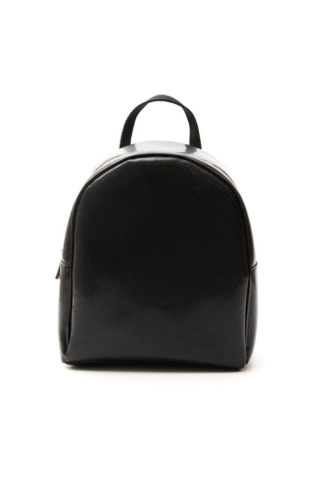 Patent-leather backpack Diffusione Tessile