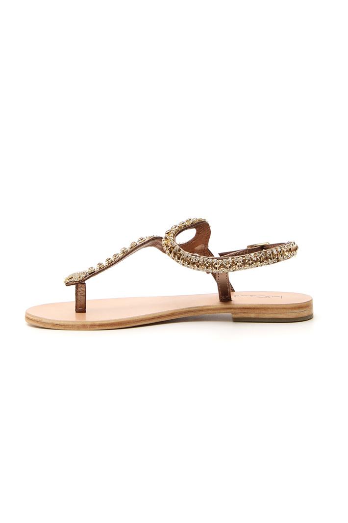 Sandalo flat con strass Intrend