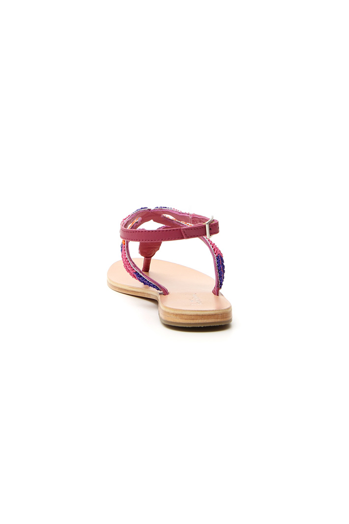 Bead flat sandals Intrend