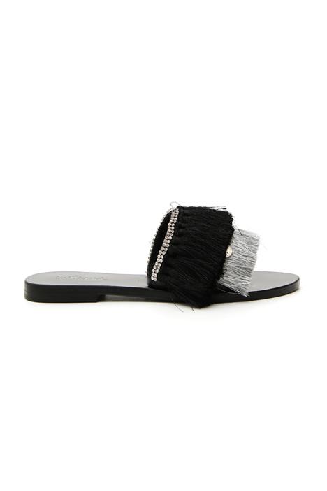 Sandalo flat con nappe Intrend