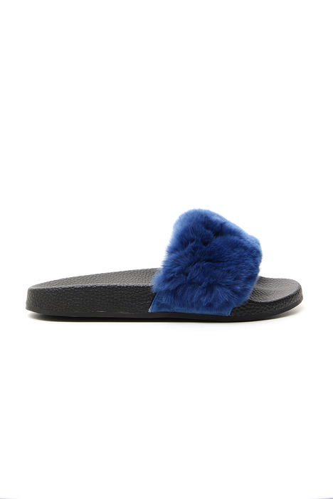 Rabbit fur slippers Intrend