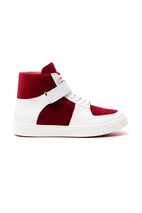 Velvet and leather sneakers Diffusione Tessile