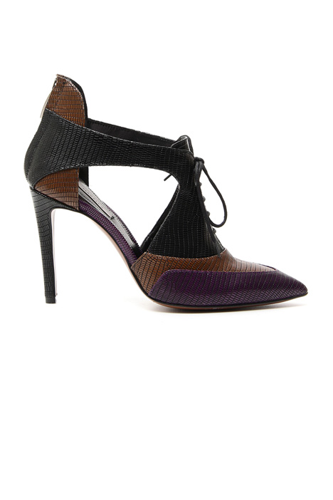 Laced shoes with reptile print Diffusione Tessile