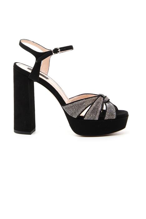 Lurex suede sandals Diffusione Tessile