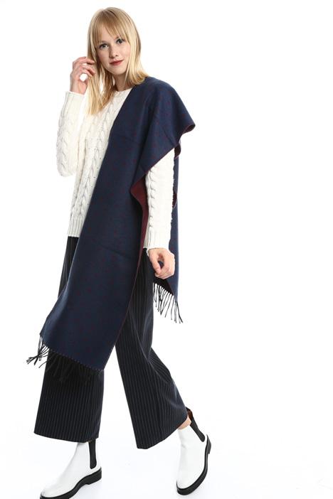 Polka dot fringed scarf Diffusione Tessile