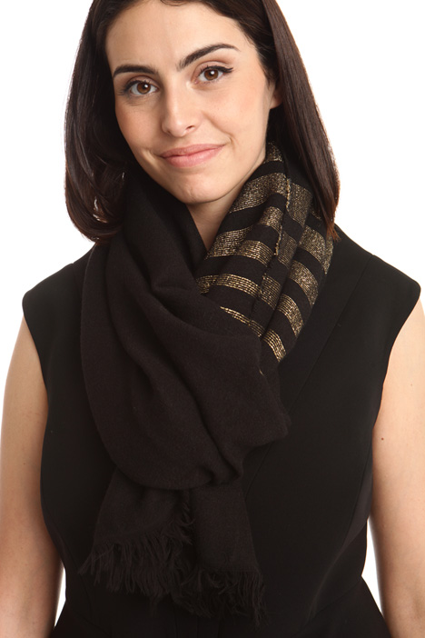 Lurex striped scarf Diffusione Tessile