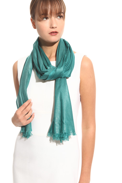 Metallised-effect scarf Intrend