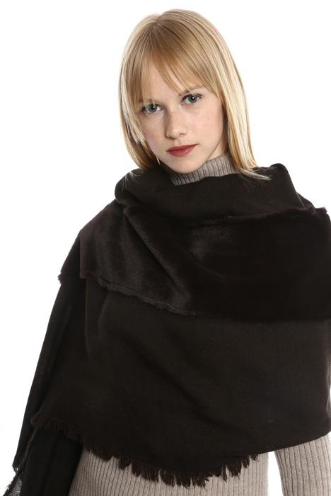 Sciarpa con bordo in pelliccia Diffusione Tessile