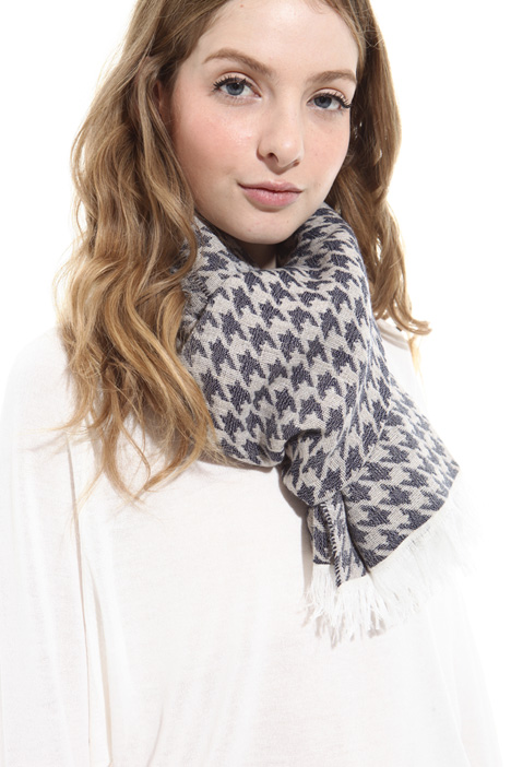 Houndstooth scarf Diffusione Tessile