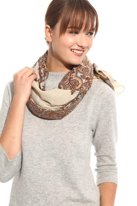 Wide printed scarf Diffusione Tessile