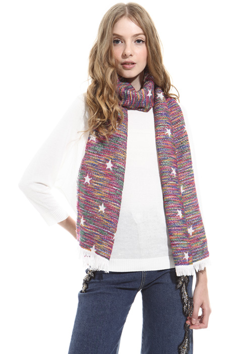 Star pattern scarf Diffusione Tessile