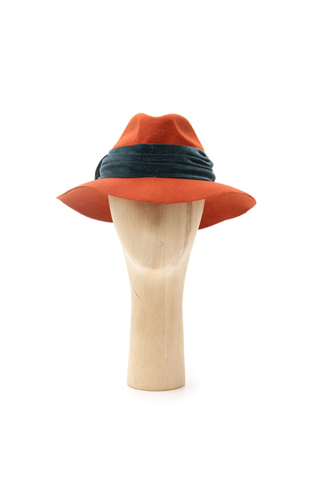 Chenille band fedora Intrend