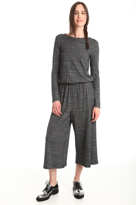 Cropped wool jumpsuit Diffusione Tessile