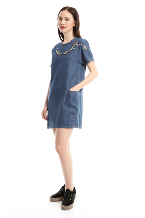 Denim-effect mini dress Intrend