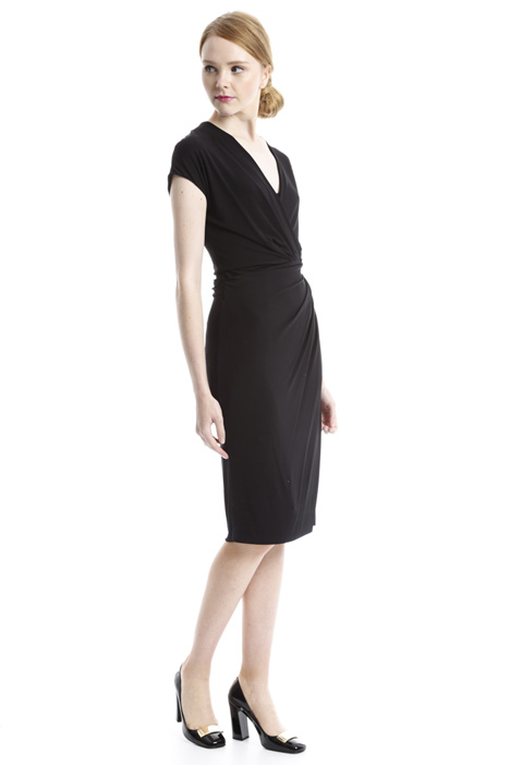 Surplice neck dress Diffusione Tessile