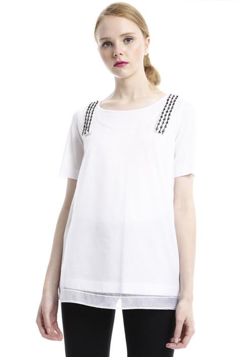 Jersey T-shirt with top Diffusione Tessile
