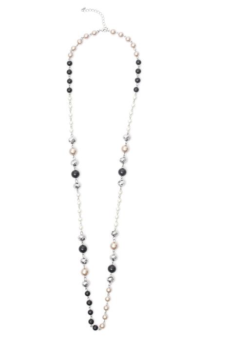 Collana con perle multicolor Diffusione Tessile
