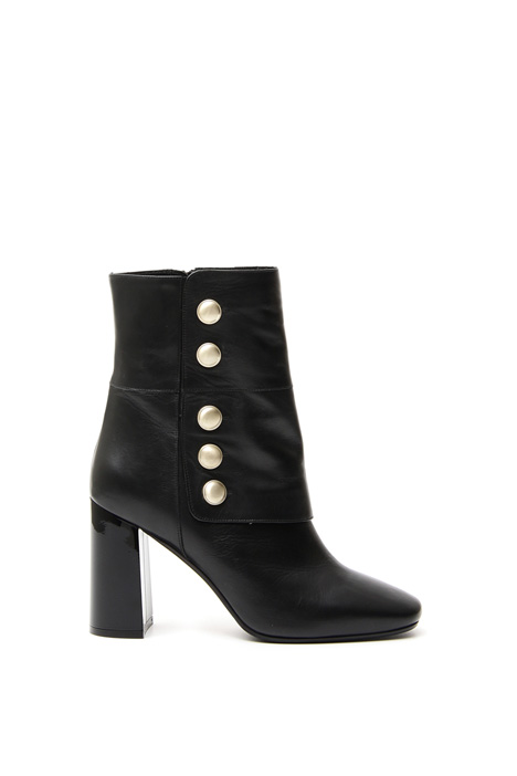 Ankle boots with gold buttons Diffusione Tessile