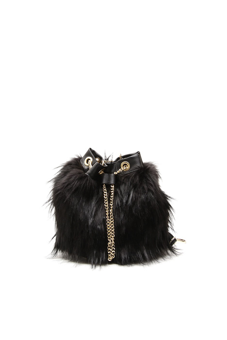 Fur-effect bucket bag Diffusione Tessile