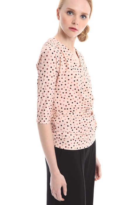 Top in jersey a pois Diffusione Tessile