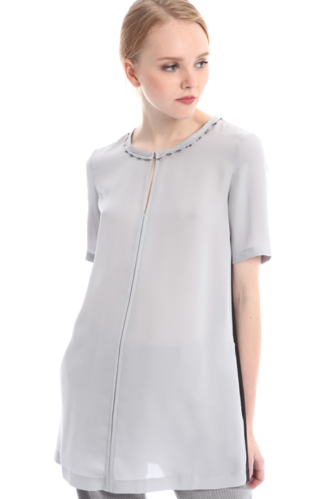 Oversized silk blend T-shirt Diffusione Tessile