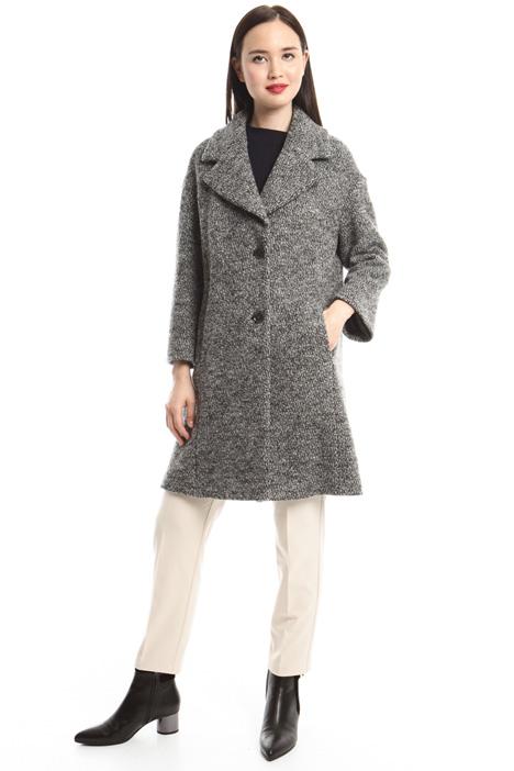 Jacquard wool coat Diffusione Tessile
