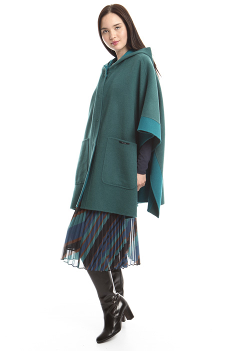 Wide wool cape Diffusione Tessile