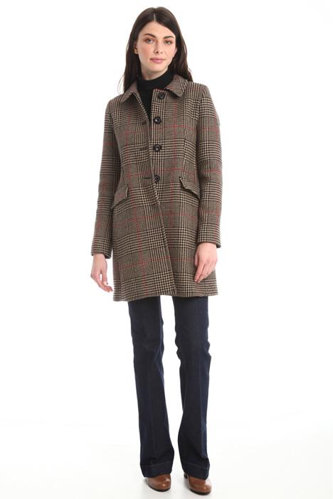 Cappotto in lana tinto filo Diffusione Tessile