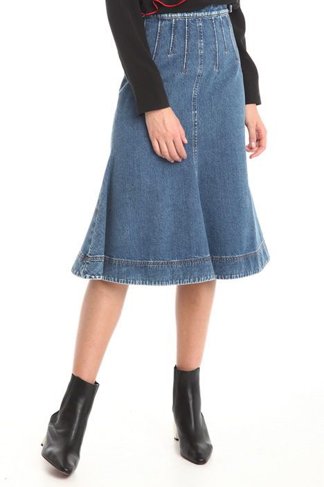 Gonna midi in denim Diffusione Tessile