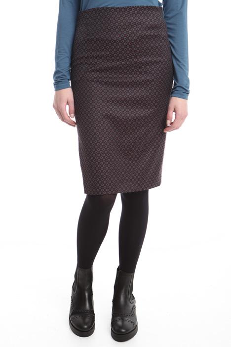 Jacquard stretch pencil skirt Diffusione Tessile