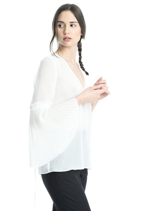Blusa con mancihe plissé Diffusione Tessile