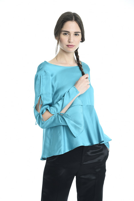 Pleated hem blouse Diffusione Tessile