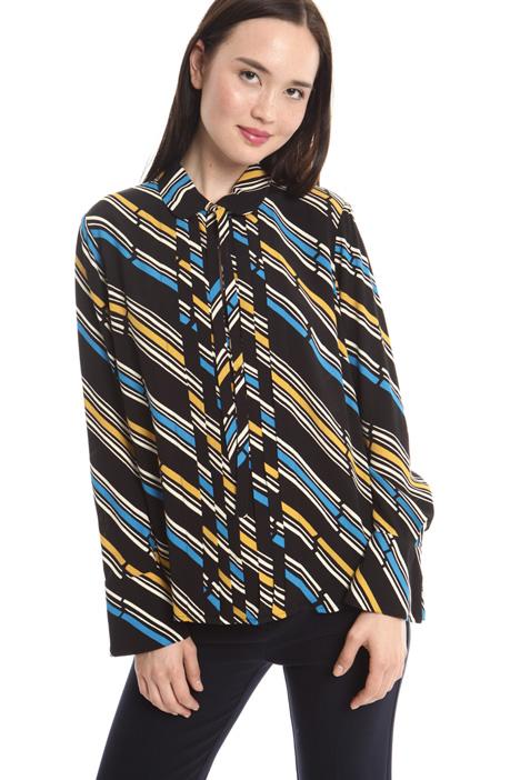Printed crepe blouse Diffusione Tessile