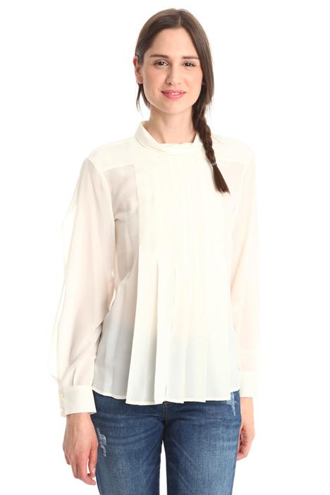 Funnel neck blouse Diffusione Tessile