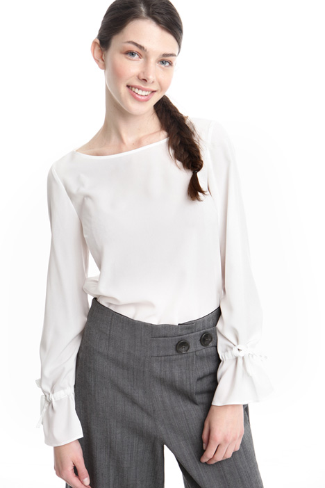 Blusa in tessuto crepe Diffusione Tessile