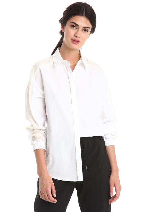 Camicia con inserti in seta Diffusione Tessile