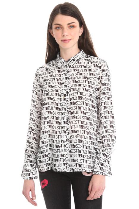 Camicia in crepe stampato Diffusione Tessile