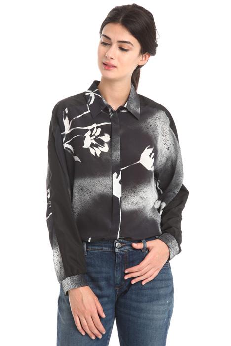 Camicia in crepe stampata Diffusione Tessile