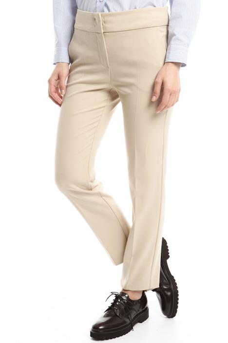 Pantaloni in crepe stretch Diffusione Tessile