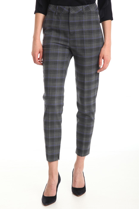 Checked pattern trousers Diffusione Tessile