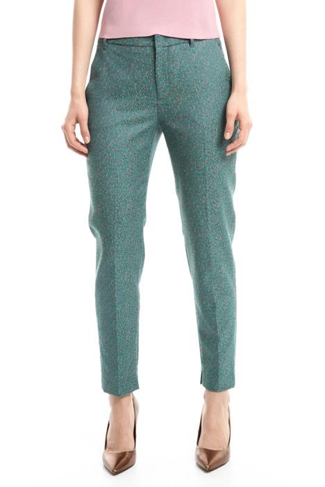 Stretch jacquard trousers Diffusione Tessile