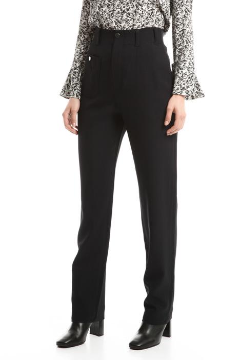 High-waist cady trousers Diffusione Tessile