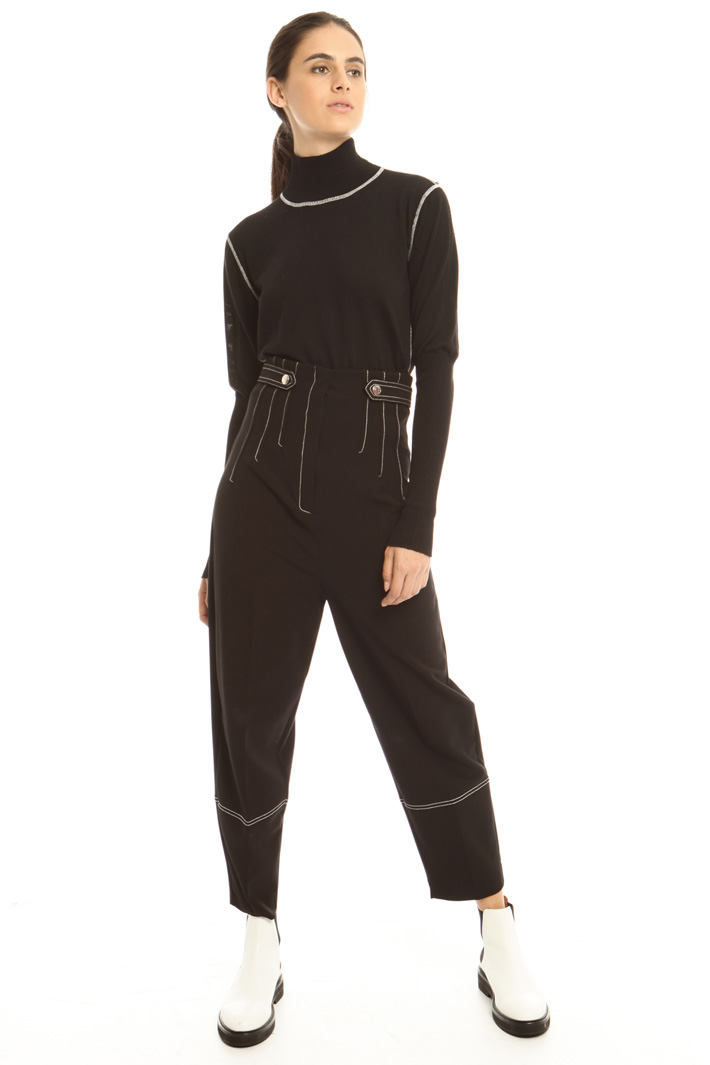 Pantaloni con impunture Diffusione Tessile