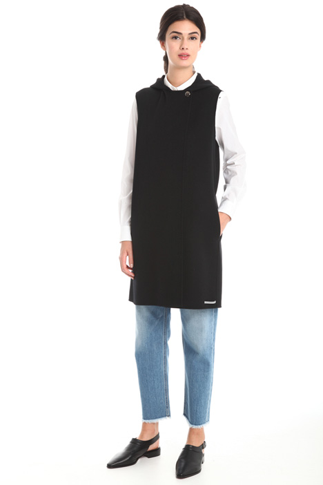 Hooded waistcoat in wool Diffusione Tessile
