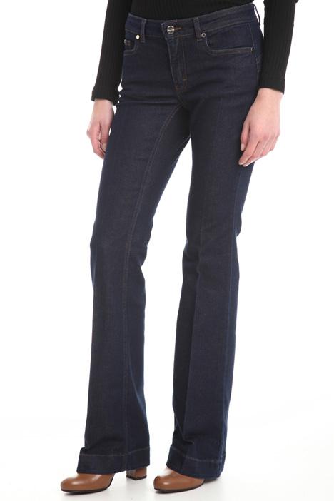 Jeans a zampa con piega Diffusione Tessile