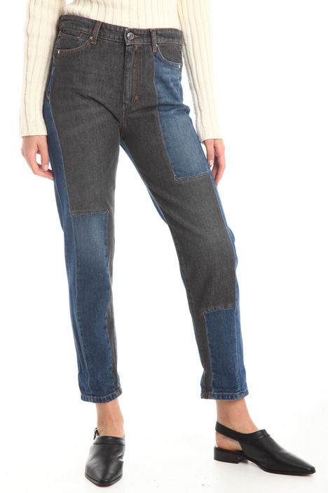 Jeans with bi-color patch Diffusione Tessile