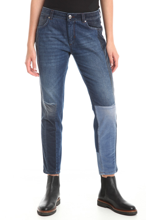 Jeans con inserti in velluto Diffusione Tessile