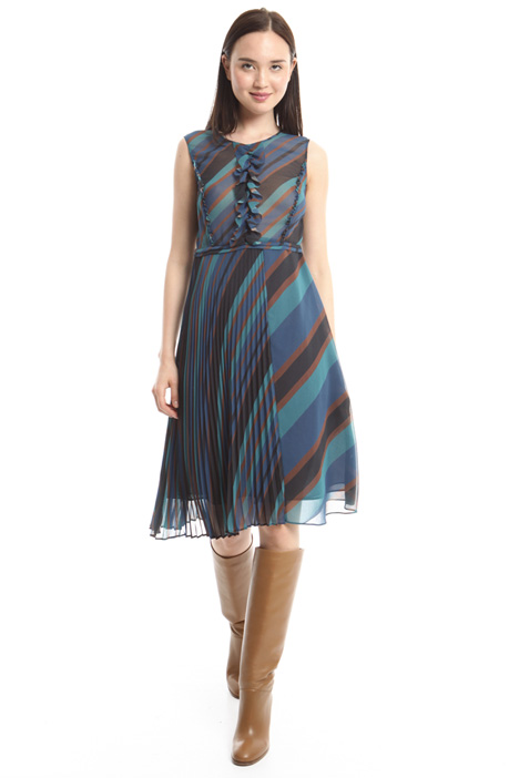 Striped georgette dress Intrend