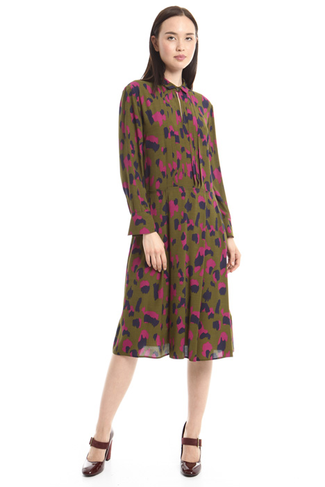 Printed crepe dress Diffusione Tessile